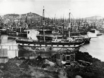 Le port de San-Francisco en 1850